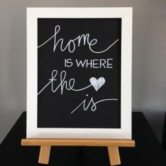 Home is Where the Heart is black and white by AutumnGreyDesigns, $13.00