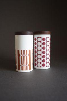 Hornsea Pottery Geometric Cruets