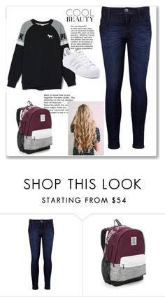 """""""Cool Beauty"""" by autumn-kirby2020 on Polyvore featuring Levi's, Victoria's Secret, adidas, cool and beautiful"""