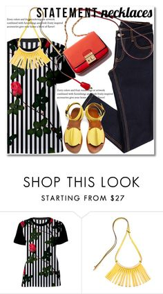 """""""Collared! Statement Necklaces"""" by svijetlana ❤ liked on Polyvore featuring Marni, TRACEY NEULS, polyvoreeditorial, statementnecklaces and spfashion"""