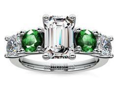 Emerald Trellis Emerald and Diamond Gemstone Engagement Ring in Platinum http://www.brilliance.com/engagement-rings/trellis-emerald-diamond-gemstone-ring-platinum