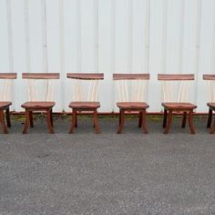 Walnut Spindle Backed Chair by Corey Morgan