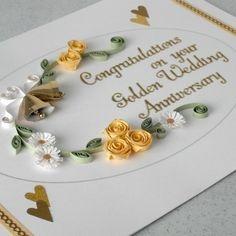 handmade card design ideas | Wedding Anniversary Card by Paper Daisy Card Design