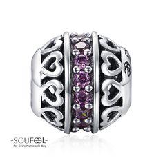 Soufeel February Birthstone Dark Purple Charm 925 Sterling Silver Shop->http://www.soufeel.com/february-birthstone-dark-purple-charm-925-sterling-silver.html