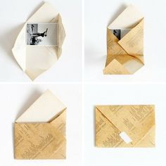 Origami envelope letters gifts Ideas for 2020 Tutorial Envelope, Envelope Diy, Envelope Origami, Envelope Design, How To Make An Envelope, Fold Paper Into Envelope, How To Make Envelopes, Making Envelopes, Origami Letter