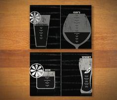 Diseño de la carta de bebidas para TICKETS, nuevo restaurante de los hermanos Adrià. By Chickenboxstudio.