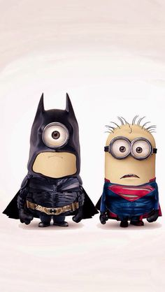 haha ... batminion and superminion!