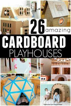 Cardboard playhouses
