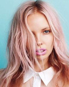 Pastel Pink Hair Color strawberry blonde