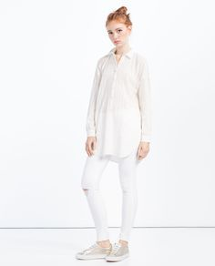 FRILLED SLEEVE JACQUARD TOP-View All-TOPS-WOMAN | ZARA United States