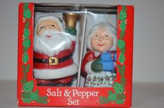 Vintage Santa and Mrs. Claus Salt and Pepper Shakers From McCrory