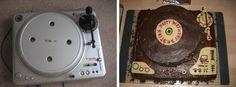 Vestax-Plattenspieler und Plattenspieler-Torte im Vergleich