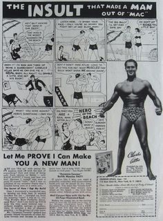 Charles Atlas. Famous ad from the 50s