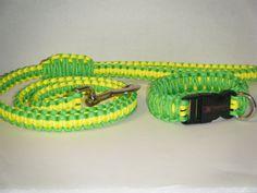 Xtreme Paracord Gear Dog Collar / Leash set Custom made for Labradors,boxers,bull dogs,pit bulls,poodles,german shepherds. via Etsy