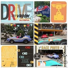 Disney's Autopia digital pocket scrapbooking page by justine using Project Mouse (Cars) by Britt-ish Designs and Sahlin Studio