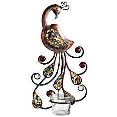 Pier 1 Imports > Special Values > Pier1ToGo Product Details - Mosaic Peacock Tealight Sconce