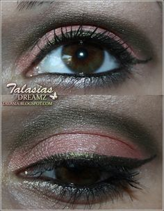 Green Orange Eye Make Up - Datum: 22.03.2012  http://talasia.blogspot.de/2012/04/tag-kleines-lidschatten-1x1-grun-orange.html