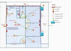 Lay-out, Electrical Plan, Plumbing Design for a Space Saving House ...