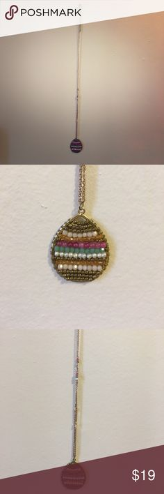 Colorful beaded long gold necklace Multi colored beaded necklace. Adds some fun to any outfit! Bundle with anything in my closet 👌🏻😊 Daisy Shoppe Jewelry Necklaces