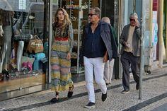 Gigi Hadid and Mario Testino while photoshooting in Oporto for the Vogue US.