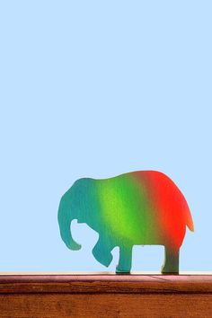 Nursery Art Prints Print featuring the photograph Nursery Animal Art - Elephant by Donald Erickson