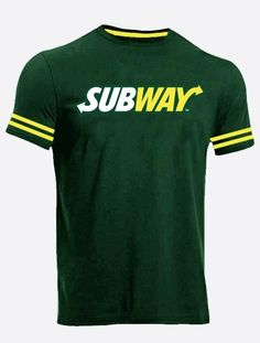 Wholesale Dark Green Subway T Shirt