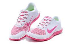 Nike Free 4.0 V4 Running Shoes Women's White Pink-red Shopping 642200-100