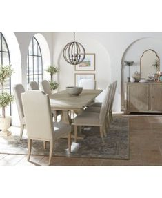 Furniture Rachael Ray Monteverdi Dining Furniture, 7-Pc. Set (Table & 6 Upholstered Side Chairs) & Reviews - Furniture - Macy's Farmhouse Dining Room Table, Reclaimed Wood Dining Table, Kitchen Tables, Dinning Table, Dining Set, Dining Table Online, Monteverde, Upholstered Arm Chair, Dining Furniture