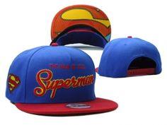 Casquette Superman Snapback Pas Cher Bleu Rouge Caps : Casquette Pas Cher