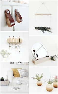 Some really clever DIYs here to add modern decor and function to the home, and they all incorporate natural textures which I've been into even more than usual lately. Wood, leather, wool, I want to ro