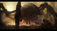 THE DESTROYER, Edvige Faini on ArtStation at https://www.artstation.com/artwork/the-destroyer