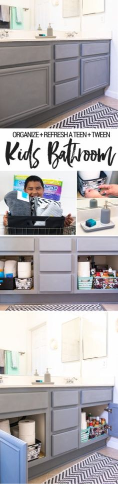 Organize kids shared bathroom - what about when they get older? Here's how a teen and tween share a bathroom and get ready for back to school - all supplies from Target. Make sure to stock Quilted Northern Ultra Soft & Strong®️ (Mega Rolls) so they have t