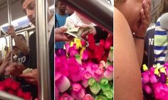 Flower vendor breaks down after man asks her to give roses away