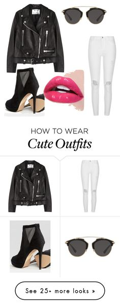 """A dark but such a cute outfit"" by ellie-tate-1 on Polyvore featuring Acne Studios, Christian Dior, ALDO, River Island, Dark, socute and yas"