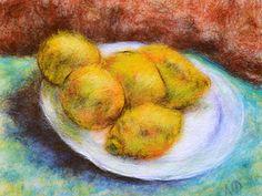 Мастер-класс: картина шерстью «Натюрморт с лимонами» по мотивам работы Ван Гога - Ярмарка Мастеров - ручная работа, handmade