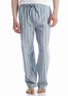 New Men/'s Nautica Sleepwear Flannel Pants Drawstring Navy Anchor Blue