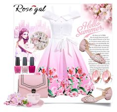 """""""Rosegal"""" by perfex ❤ liked on Polyvore featuring OPI, vintage, Pink and rosegal"""