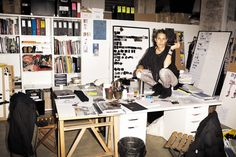Isabel Marant at her design studio. SELF SERVICE No 36 #Work