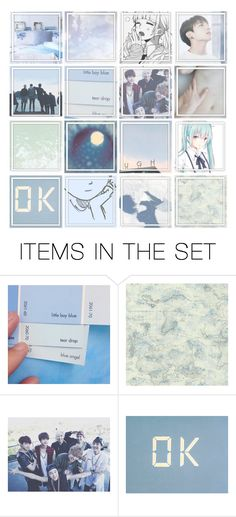 """""""Hello there~"""" by hanabusa ❤ liked on Polyvore featuring art, Blue, kpop, anime, manga and bts"""