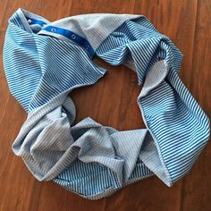LULULEMON vinyasa scarf Blue and white stripe. Thick and warm. Excellent condition. Rolling edges NO TRADES. PRICE FIRM. lululemon athletica Accessories Scarves & Wraps