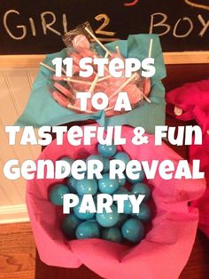 This is perfect on how to do a classy gender reveal!!!! Pamela, come back to this!