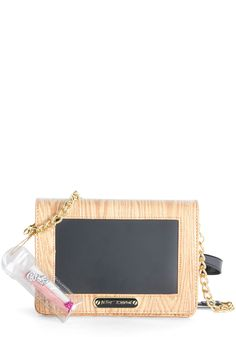 Betsey Johnson Now You're Chalking Bag. Increase the quirk-factor of your accessories by incorporating this cool Betsey Johnson purse in your wardrobe. #tan #modcloth