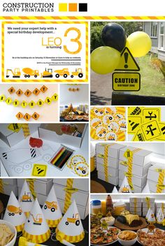 Construction B-day party printables