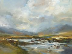 David Atkins: Autumn Rain and Mountains, Glencoe, Scotland Campden Gallery, fine art, Chipping Campden, camden gallery, contemporary, contemporary arts, contemporary art, artists, painting, sculpture, abstract painting, gloucestershire,  cotswolds, painting for sale, artwork for sale, modern art gallery, art exhibitions,arts gallery, gallery art, art gallery UK