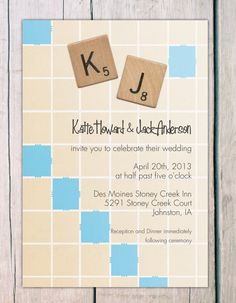 Invitation  scrabble by theprintlove on Etsy, $25.00