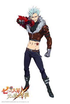 Ban in new RPG game Nanatsu no Taizai Hikari to Yami no Grand Cross Seven Deadly Sins Anime, 7 Deadly Sins, Anime Love, Anime Guys, Ban Anime, 7 Sins, Grand Cross, Seven Deady Sins, Syaoran