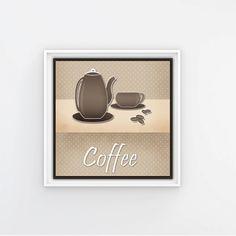 Poster with tea coffee pot and cup digital от DigitalFuzzyfox
