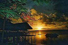 Pôr do sol em na praia fluvial de Jacaré em João Pessoa. #João Pessoa - Paraíba - Brasil. O paraíso é aqui!