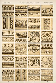 Jones, Owen, 1809-1874. / The grammar of ornament (1910) Renaissance ornament