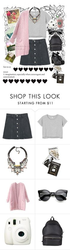 """F A N T A S Y"" by rahafsaudi ❤ liked on Polyvore featuring beauty, Polaroid, MANGO, Monki, Nocturne, Assouline Publishing, Chicnova Fashion, Fuji and Yves Saint Laurent"